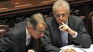 Giulio Terzi e Mario Monti