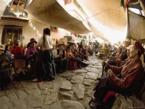Un caratteristico tratto del Barkor di Lhasa