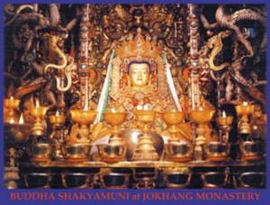 Il Buddha bambino nel tempio Jokhang