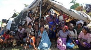 Profughi Rohingya in un campo profughi a Mayebon dal novembre 2012