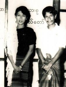 Par Par Lay con Aung San Suu Kyi prima del 1990