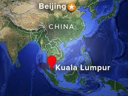 Il luogo dove si presume sia caduto l'aereo malesiano