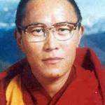 Tenzin Delek Rimpoche in una foto giovanile