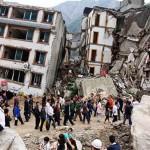 Un'immagine simbolo del terremoto del 2015