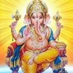 Il dio Ganesh metà uomo metà elefante