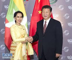 Xi Jinpin e Aung San Suu Kyi