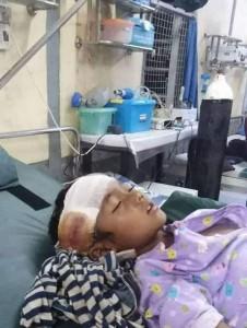 Un bambino dell'Arakan vittima innocente dei soldati birmani in guerra con gli indipendentisti dell'Arakan Army