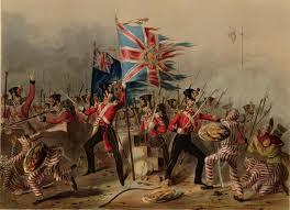 Stampa d'epoca per celebrare la vittoria inglese sulla Cina nella Guerra dell'Oppio