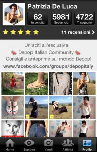 Profilo DePop De Luca