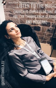 Claudia Ciocca testa Effetto Viola
