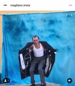 Toni Pandolfo per Magliano - video tratto da Instagram