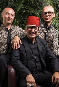 Marco Zanardi e alcuni ospiti al Jungle Party