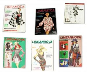 Alcuni numeri della rivista Lineamoda
