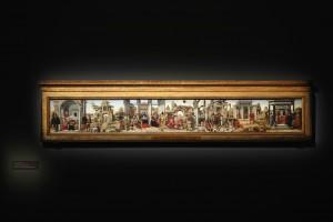 Polittico Griffono - La predella in cui sono dipinte le  Storie di san Vincenzo Ferrer di Ercole de' Roberti - Foto di Paolo Righi