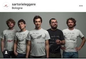 I règaz de Lo Stato Sociale indossano le Pagini tessili (foto tratta da Instagram)
