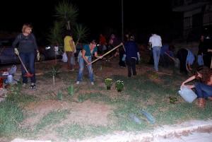 I volontari al lavoro