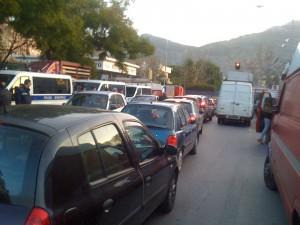 viale francia traffico