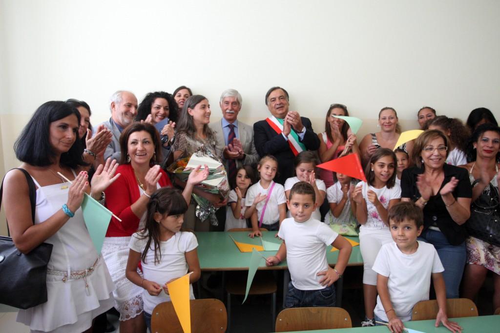 inaugurazione scuola Mancino in via Belmonte Chiavelli