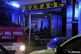 Il garage di via Salasco, teatro della sparatoria