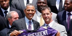 Obama Welcomes Super Bowl Champion Baltimore Ravens To White House
