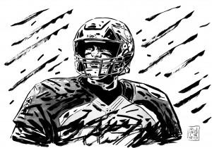 Brady versione Tampa Bay nel disegno di Lorenzo Ruggiero per Repubblica