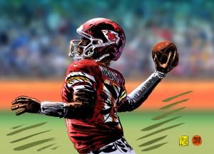 Patrick Mahomes vincitore del Super Bowl coi suoi Chiefs disegni Lorenzo Ruggiero colori Massimo Rocca