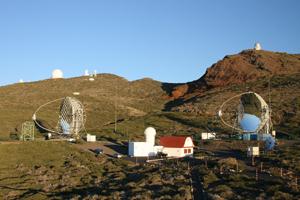 """Il telescopio """"Magic"""" sul vulcano Taburiente"""