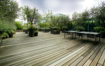 Terrazzo nei pressi del centro di Torino - Progetto Studio mg2 architettura