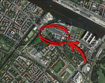 Am Flutgraben, Berlino - da Google Earth