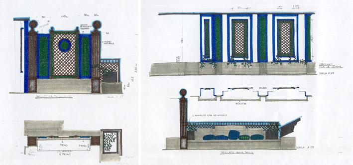 Un terrazzo sui tetti di Milano - disegni dello Studio Pozzi