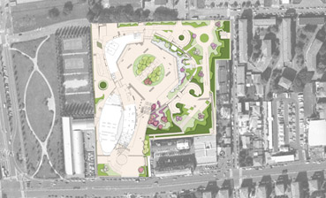 Masterplan Vodafone Village - disegno dello Studio Pozzi