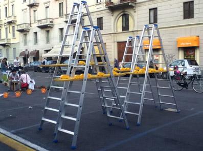 """Installazione """"Scale 1:24"""" di Angelo Jelmini"""