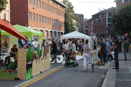 passaggi all'interno del park(ing) day