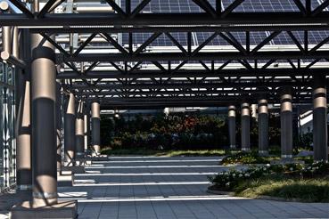 Il giardino fotovoltaico di Vodafone Village - foto di Alessandra Ferlini