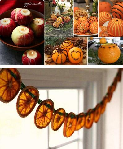 """Frutta...natalizia! - da """"www.pinimg.com"""" (foto in alto a sinistra); da """"www.sphotos-h.ak.fbcdn.net"""" (foto in alto a destra); da """"www.apartmenttherapy.com"""" (foto in basso)"""