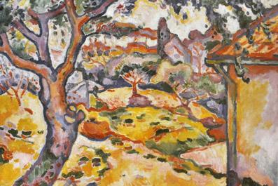"""Dipinto di Georges Braque, """"Ulivi presso Nestaque"""""""