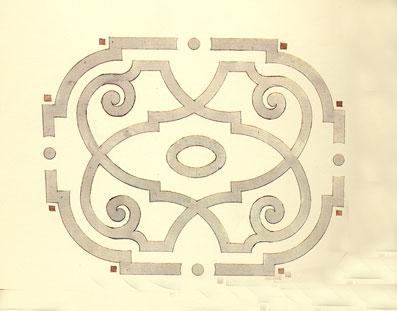 Il concept: un parterre barocco - Disegno di proprietà dello Studio Pozzi
