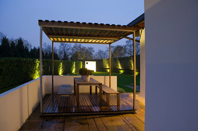 Giardino provato per una villa in Lombardia - Foto di proprietà dello Studio Pozzi