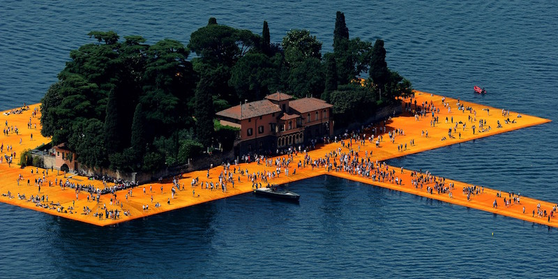 'The Floating Piers' art installation in Italy