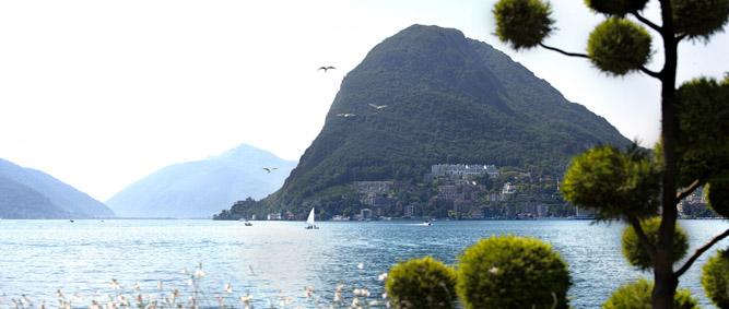 Il lago Ceresio, detto anche di Lugano, su cui s'affaccia Monte San Salvatore, a Lugano Paradiso ©r.patti