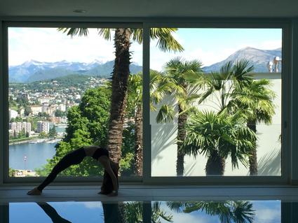 The View, vista panoramica dalla piscina della spa