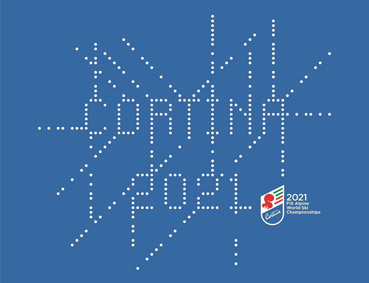 Logo di Cortina 2021, progettato da Italo Lupi e Renzo Di Renzo di Heads Collective