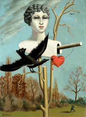 ean-Viollier, L'e?pouvantail charmeur III, 1928, olio su tela 71x51 cm, Association des Amis du Petit Palais, Gene?ve