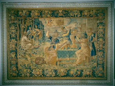 Arazzo degli Astronomi, manifattura Oudenaarde, Museo Bagatti Valsecchi