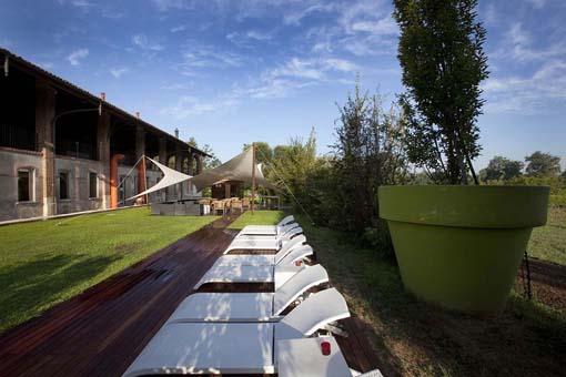 Il solarium estivo della spa Nature