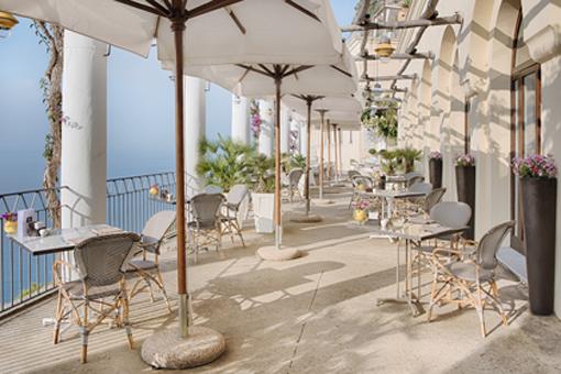 L'esterno del Ristorante dei Cappuccini del Grand hotel Convento di Amalfi