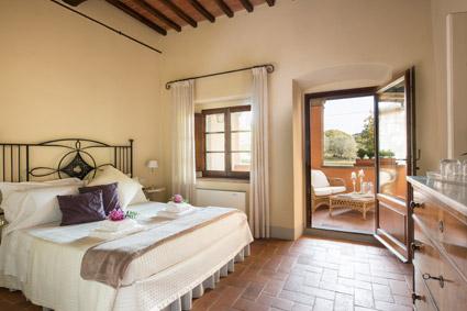 La camera Salvia con loggiato esterno