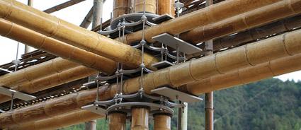 I giunti di bambù non usano viti o cemento, una nuova tecnica sviluppata dallo Studio Cardenas Conscious Design