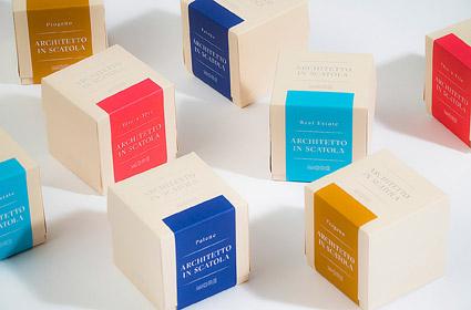 I quattro diversi packaging dell'Architetto in Scatola