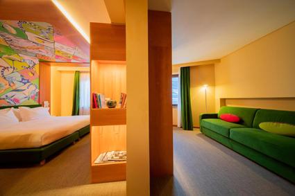 Omama social hotel Aosta, una suite